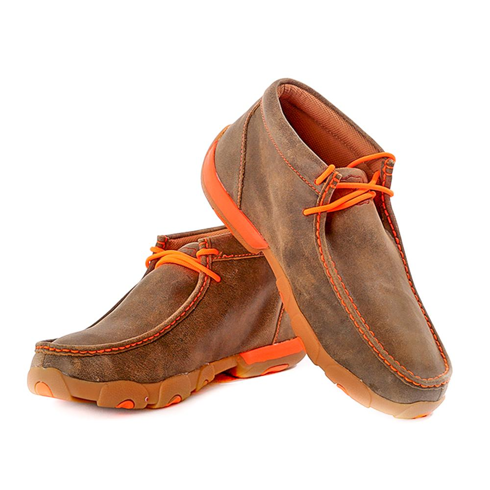 twisted x s driving moccasin with orange trim