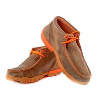 Twisted X Men's Driving Moccasin with Orange Trim