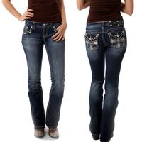 Miss Me Cream Cross Signature Bootcut Jean