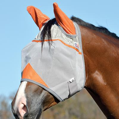 Cashel Crusader Horse Size Fly Mask with Ears, Colors OR