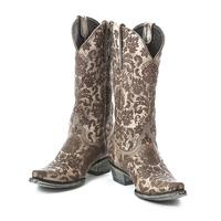 Old Gringo Nadia Lace Patterned Boots in Gray