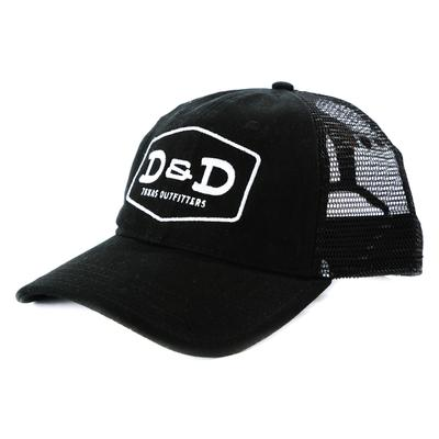 D&D Texas Outfitters Black Mesh Back Cap