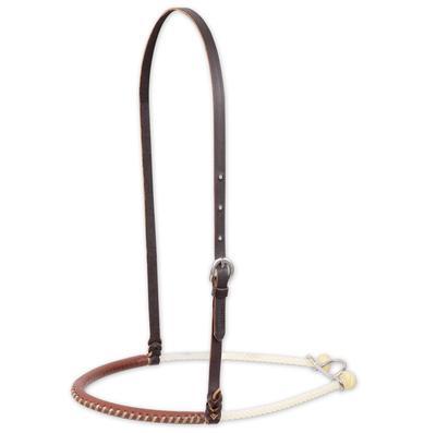 Martin Saddlery Leather Covered Single Rope Noseband