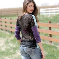Cruel Girl Dolman With Lace Back Blouse