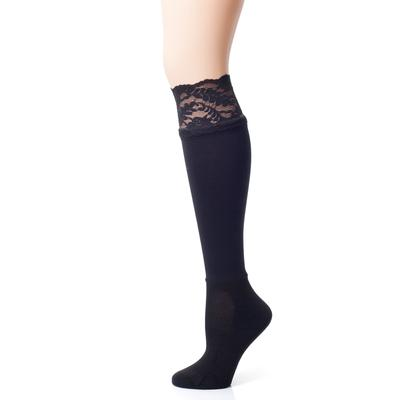 Bootights Darby's Lacie Lace Boot Socks BLK