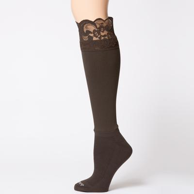Bootights Darby's Lacie Lace Boot Socks CHOC