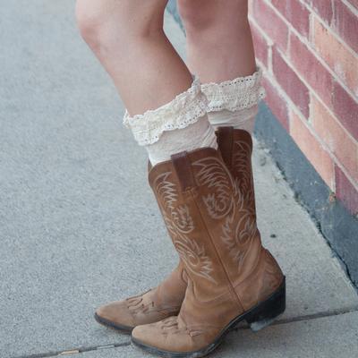 Peekaboo Chic Lace Boot Socks