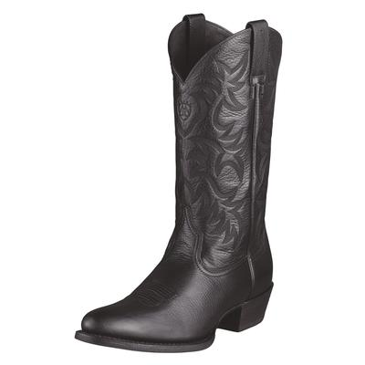 Ariat Heritage Black Western R Toe Boots