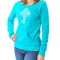 D&D Teal Cross Front Sweater