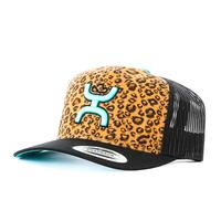 Hooey Cheetah and Turquoise Mesh Back Hat