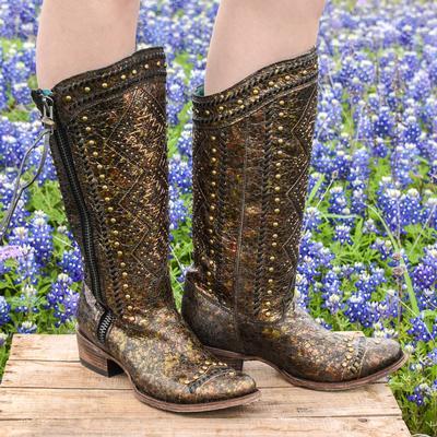 Corral Aztec Bronze Stud Boots