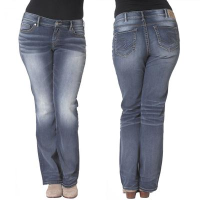 Silver Jeans Ladies Suki Mid Boot Medium Wash Jean | D&D