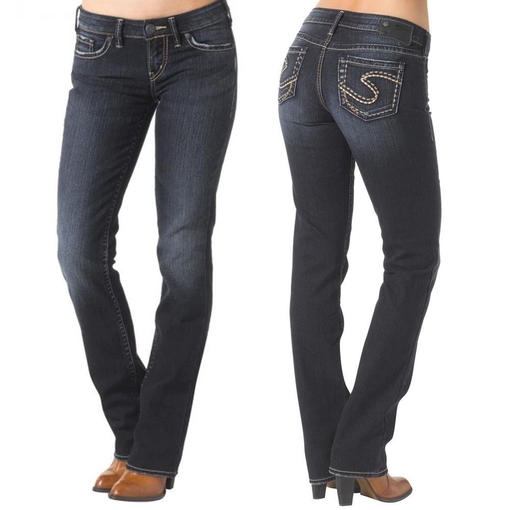 Silver Jeans Ladies Aiko Mid Slim Bootcut Jean