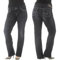 Silver Jeans Ladies Suki Mid Slim Bootcut Rinse Wash Jean