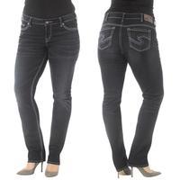 Silver Jeans Ladies Suki Mid Slim Rinse Wash Jean