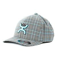 Hooey Youth Azul Plaid FlexFit Hat