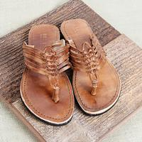 Bed Stu Riley Tan Leather Sandal