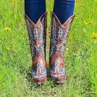 Old Gringo Saddle Brown Sharon Boots