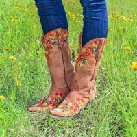 Old Gringo Flora Brass Boots