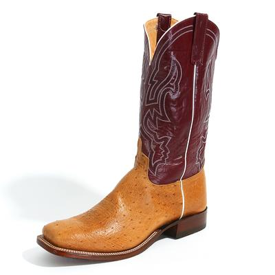 Anderson Bean Ostrich Antique Saddle Boot