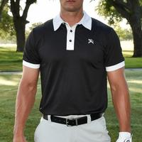Hooey Black and White Golf Polo