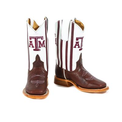 Anderson Bean Kid's A & M Striped Boots