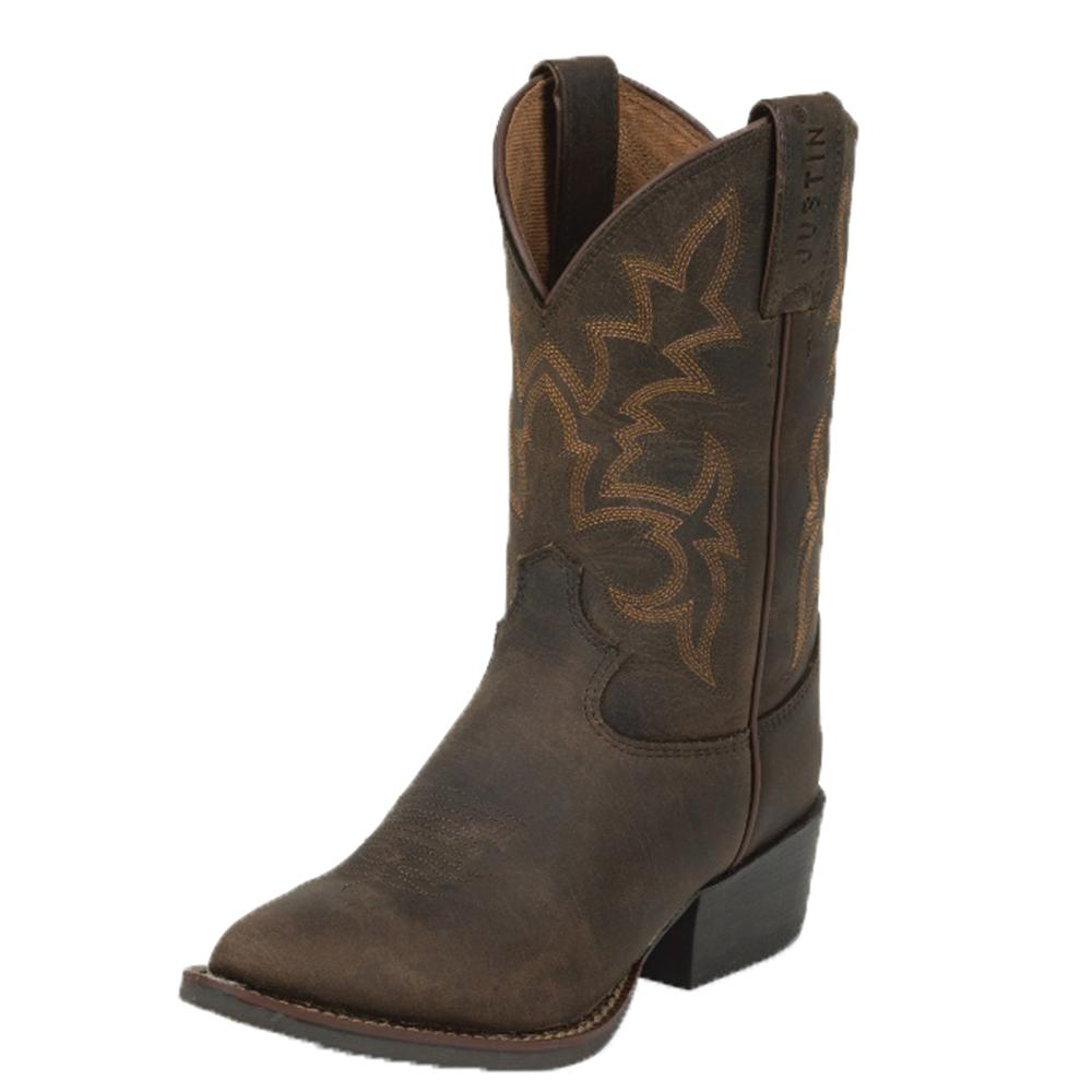 Justin Kid S Brown Buffalo Stampede Boots