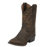 Justin Kid's Brown Buffalo Stampede Boots