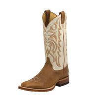 Justin Men's Cognac Delta Ranch Collection Boots