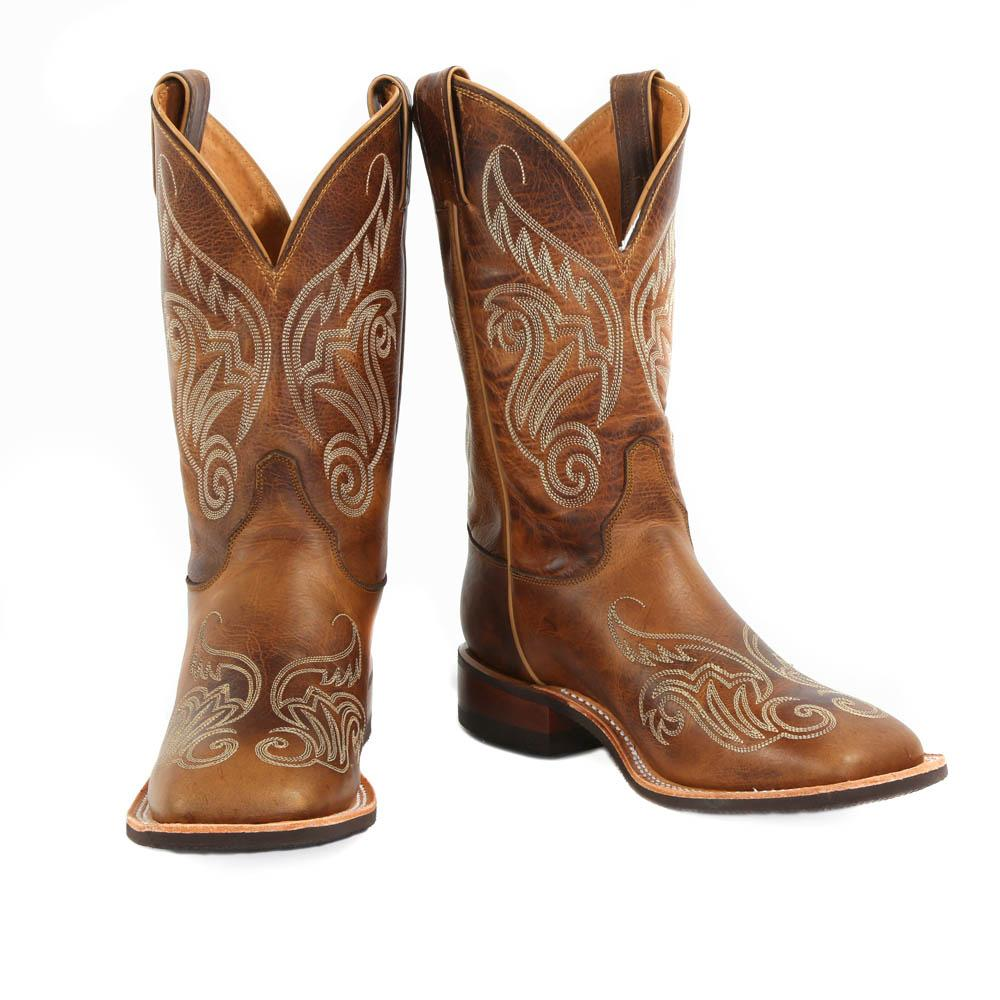 Popular  Women39s Justin Antique Beige Cowhide Bent Rail Cowgirl Boots Item