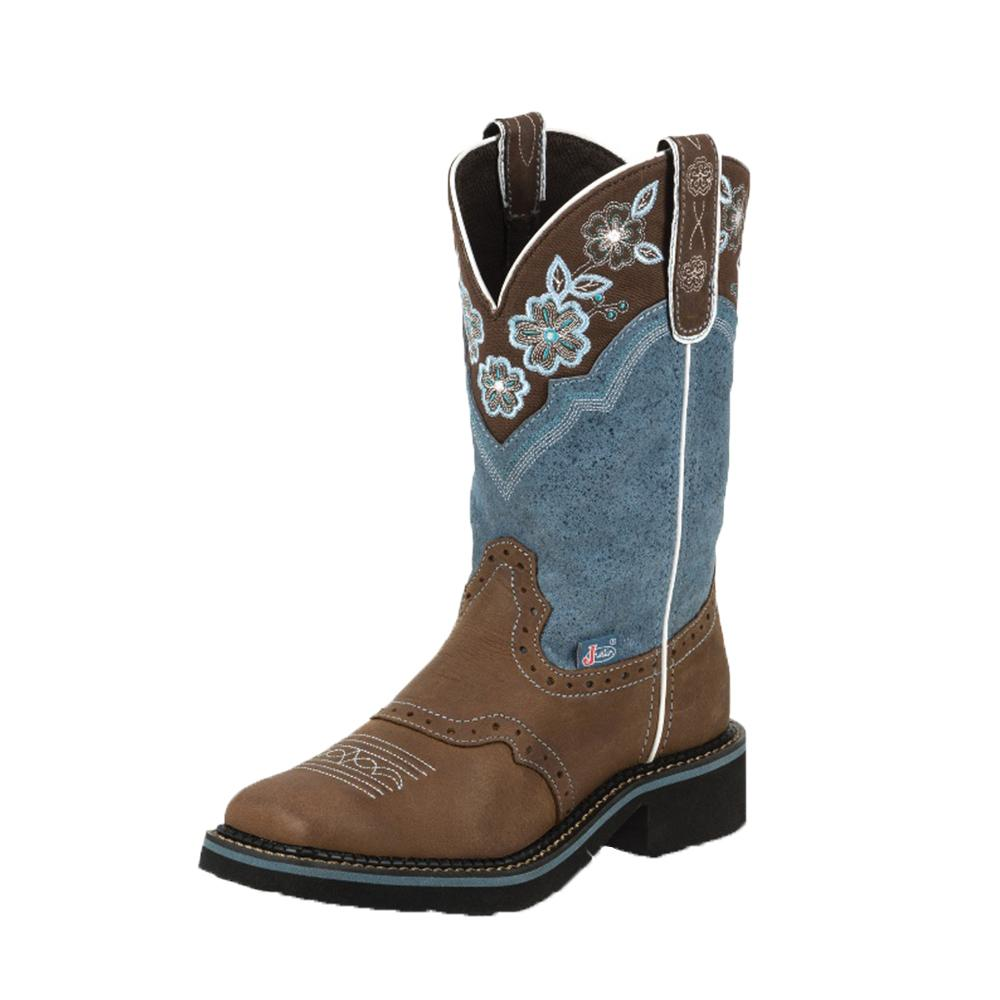 Justin Women S Brown And Dusty Blue Gypsy Boots
