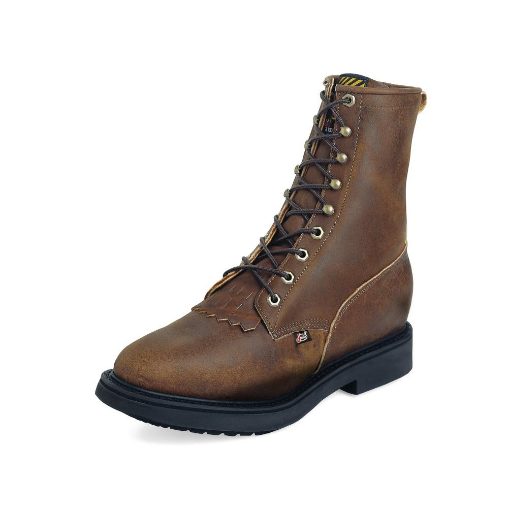 Justin Men S Aged Bark Double Comfort 174 Lace Up Work Boots