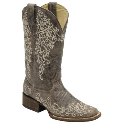 Corral Women's Bone Embroidered Boots