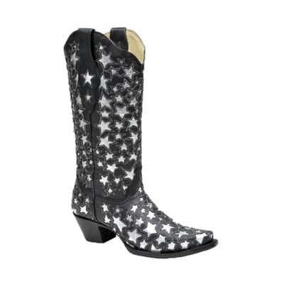 Corral Women's Star Spangled Boots in Black