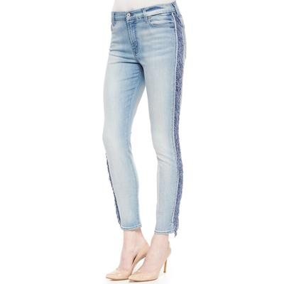 7 For all Mankind Women's Midrise Slim Illusion Jeans