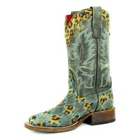 Macie Bean Girls Crack Leopard Patch Boot