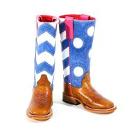 Macie Bean Girl's Chevron Stove Top Boots