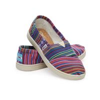 TOMS Youth Striped Textile Slip-Ons