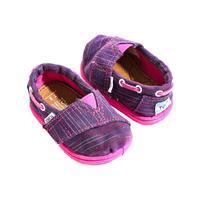 TOMS Kid's Purple Striped Bimini Classic Slip-Ons