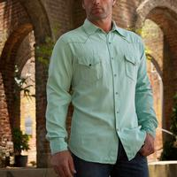 Ryan Michael Whip Stitch Silk Twill Shirt