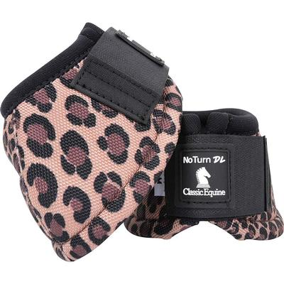 Classic Equine No-Turn DL Bell Boots CHEETAH