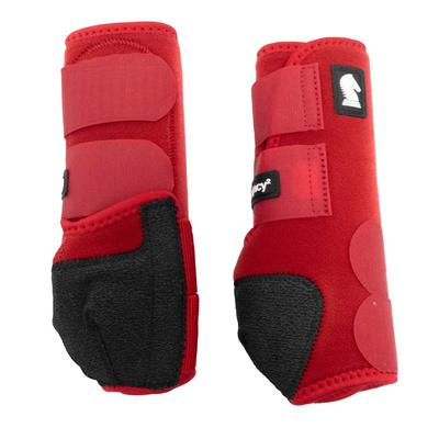 Classic Equine Legacy System Front Boots CRIMSON