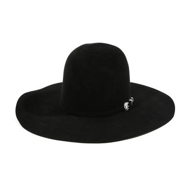American Hat Co.20x Black Felt Open Crown Hat