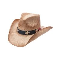 Charlie 1 Horse Stars and Stripes Straw Cowboy Hat