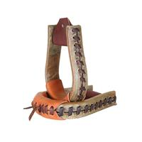 Cactus Saddlery Rawhide Covered Oxbow Stirrups