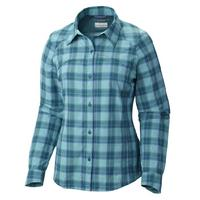 Columbia Women's Plaid Plus Size Silver Ridge Long Sleeve Shirt