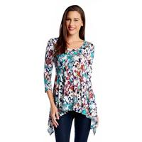 Karen Kane Women's 3/4 Sleeve Handkerchief Top