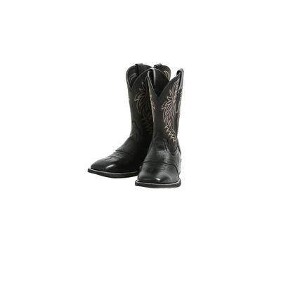 Ariat Men's Sport Black Leather Cowboy Boots