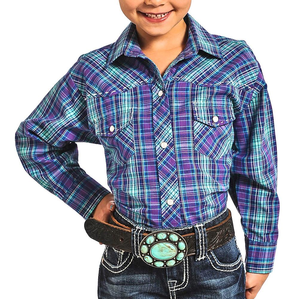 Rock Roll Cowgirl Girl 39 S Purple And Turquoise Western