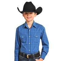 Rock & Roll Cowboy Boy's Pitkin Classic Plaid Snap Shirt